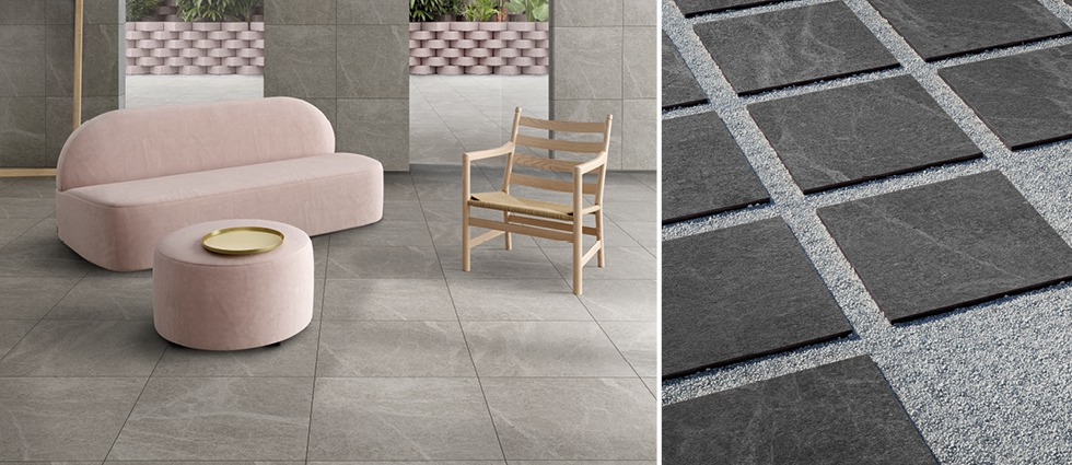 Veined Stone Indoor & Outdoor Tile collection