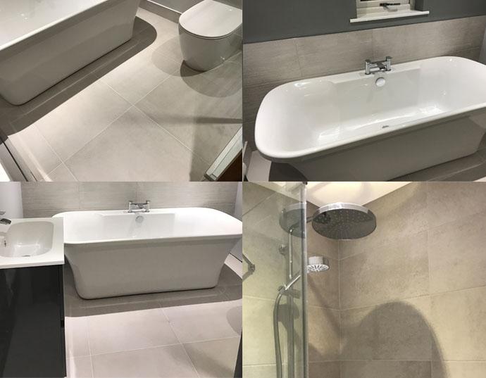 Customer Bathroom Project using CTD Tiles