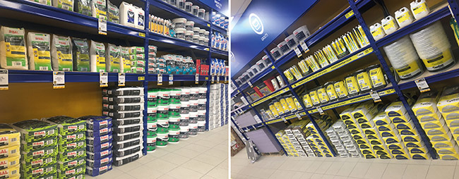 trade centre with adhesives, grout and more at ctd tiles Bolton