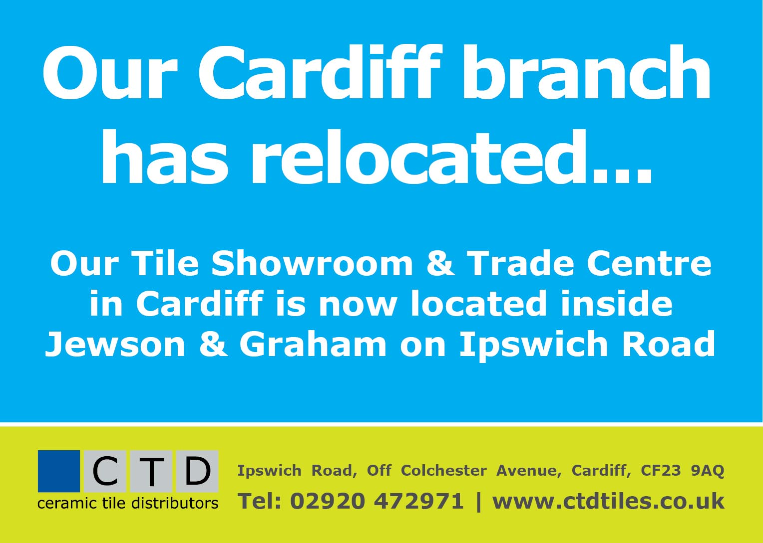 CTD Cardiff has relocated