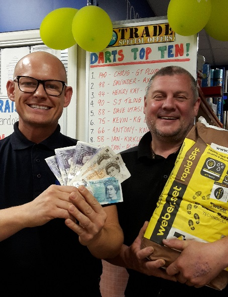 CTD Huddersfield darts competition winner