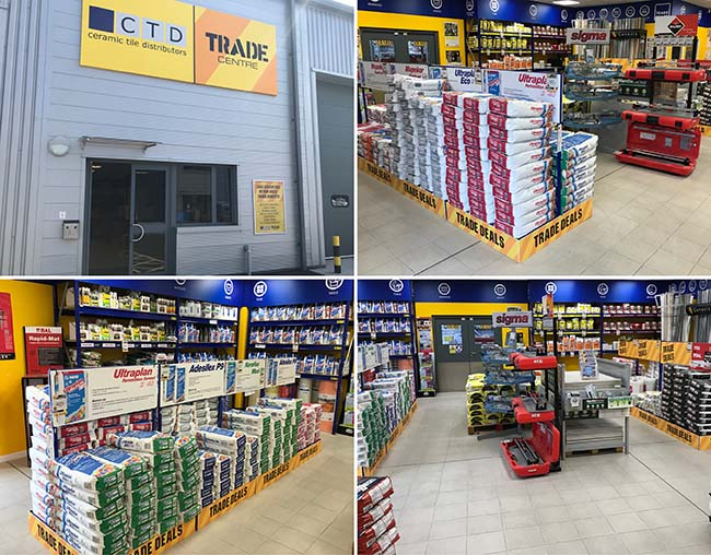 ctd tiles trade centre inside and outside view