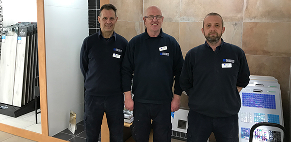 CTD Tiles Exeter team photo.