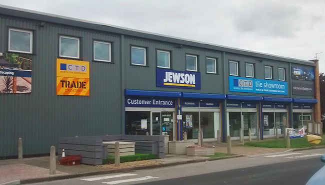 outside of our tile showroom in hull