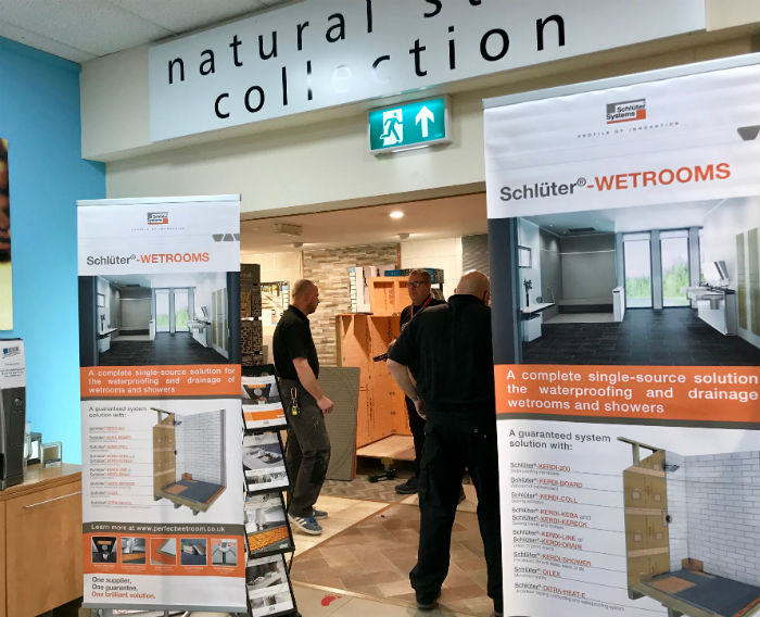 Schluter Wetrooms Trade Day at Hull