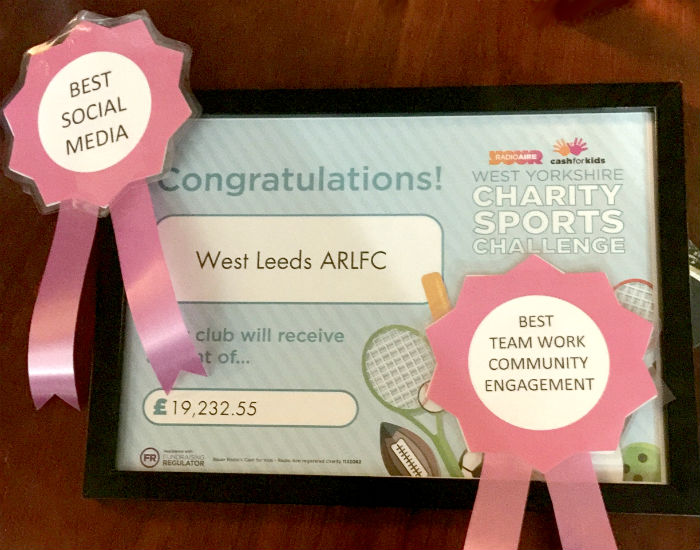 West Leeds - Cash For Kids Certificate