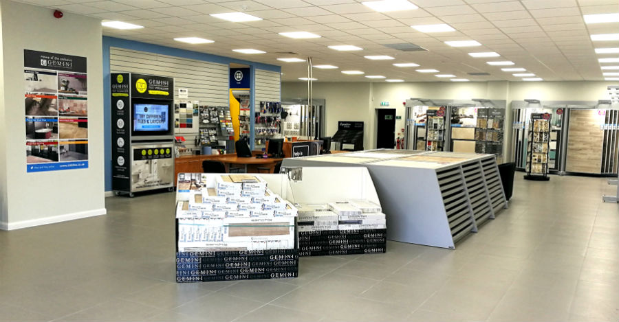 Tile showroom at CTD Lincoln