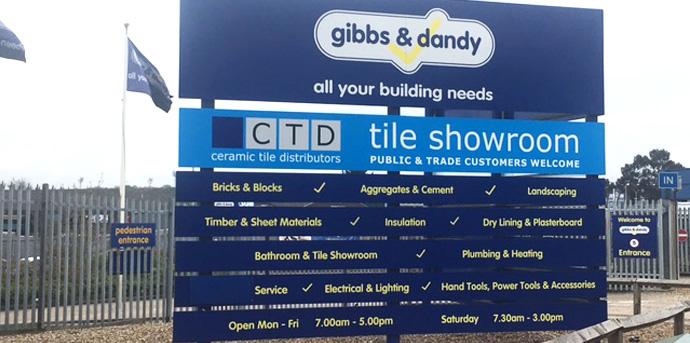 CTD Tiles Sign