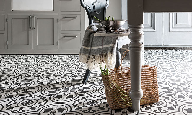 Gemini Tile Collection Cuban White Ornate