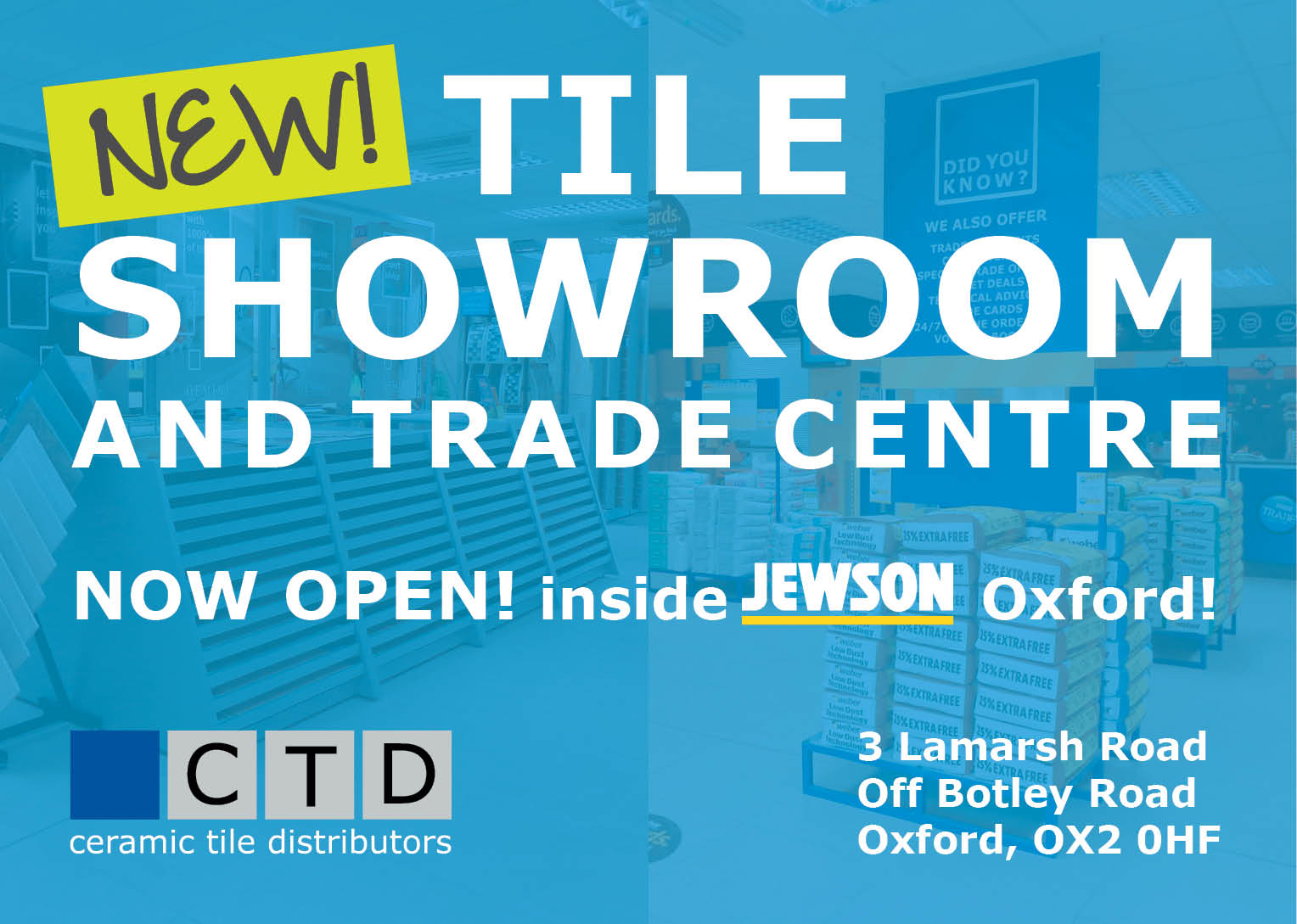 Tile showrooms and trade centres ceramic tile distributors ceramic tile distributors tile showroom and trade centre oxford oxford now open dailygadgetfo Images