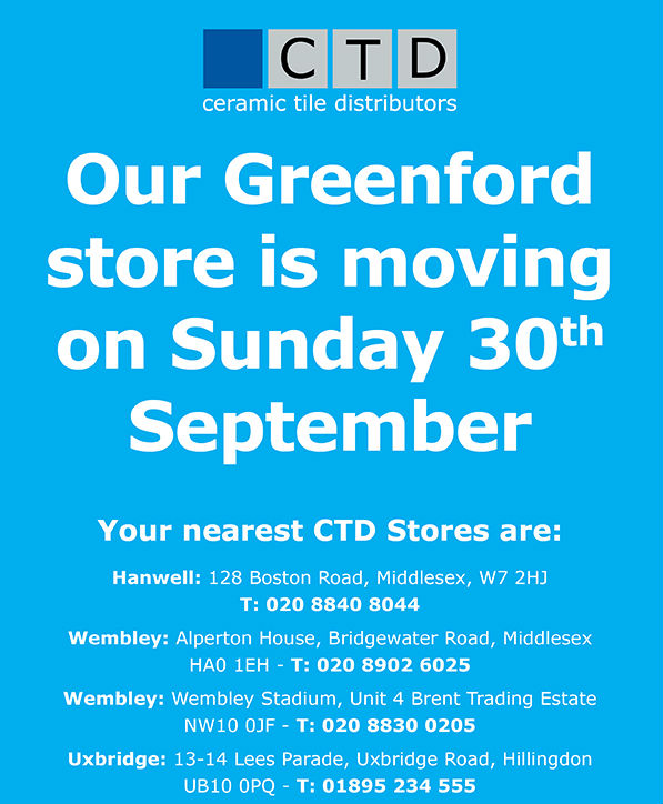 CTD Greenford Has Moved