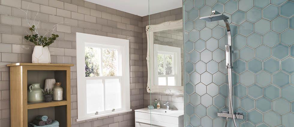 Merveilleux Hexagon Bathroom Tiles