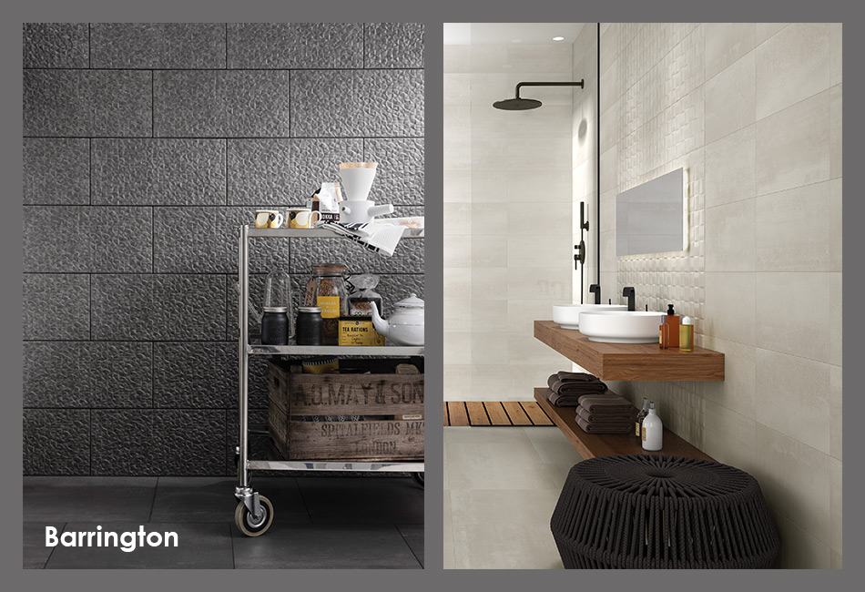 Collage picture of Barrington wall and floor tiles for new homes