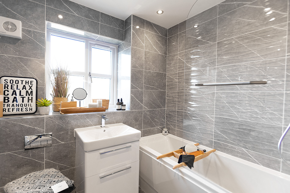 Kingston tiles in bathroom of contemporary new home