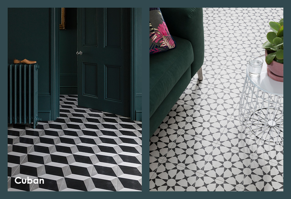 Cuban patterned floor tiles for house builders and developers