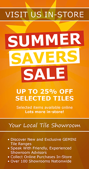 summer sale now on in ctd tile showrooms nationwide