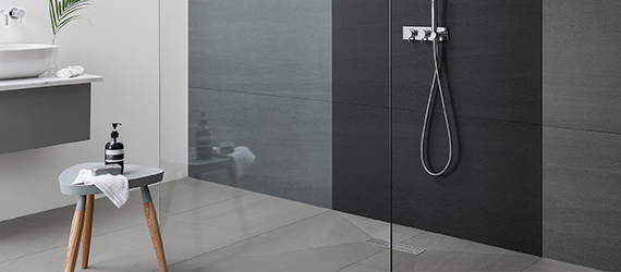 Kursaal Basalt Effect Bathroom Tiles by GEMINI from CTD Tiles