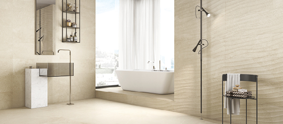 Rock Beige Bathroom Tiles by GEMINI from CTD Tiles