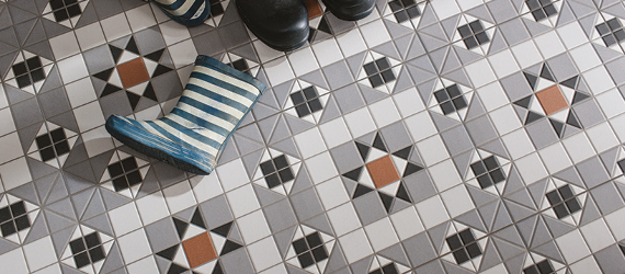 Victroian Heritage Glazed Ceramic Floor Tiles by GEMINI from CTD Tiles