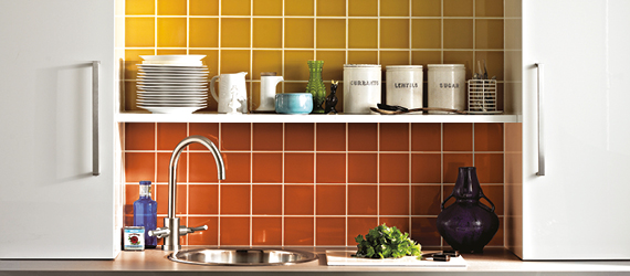 Reflections Colourful Kitchen Tiles by GEMINI from CTD Tiles