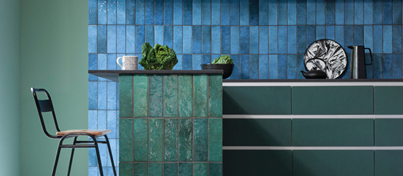 Dyroy Colourful Kitchen Tiles by GEMINI from CTD Tiles