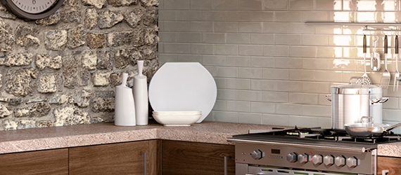 Metro Brick Country Kitchen Tiles by GEMINI from CTD Tiles