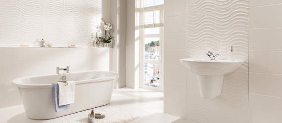 Streamline Decorative Bathroom Tiles by GEMINI from CTD Tiles