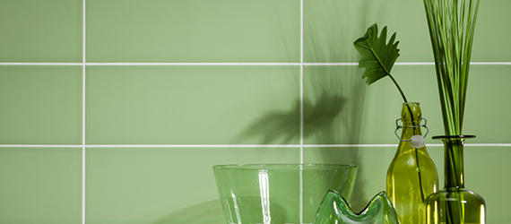 Reflections Green Wall Tiles by GEMINI from CTD Tiles