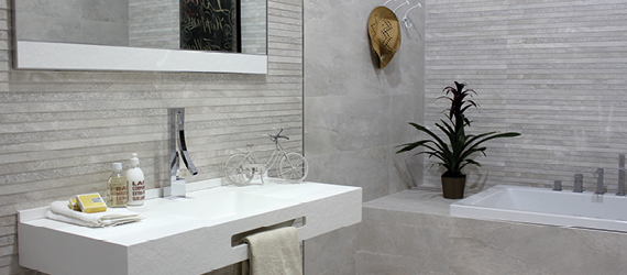 Nature Grey Bathroom Tiles by GEMINI from CTD Tiles