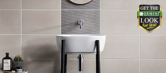 Cement Tech Mini Get The GEMINI Look For Less - Bathroom Tiles by GEMINI from CTD Tiles