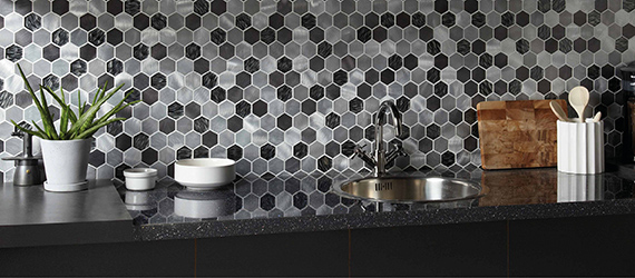 Savoy Hexagon Kitchen Tiles by GEMINI from CTD Tiles