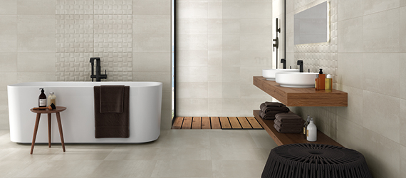 Barrington Limestone Bathroom Tiles by GEMINI from CTD Tiles