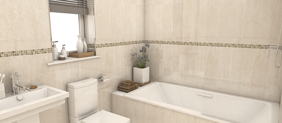 Polsden Limestone Wall Tiles by GEMINI from CTD Tiles