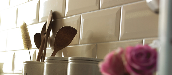 Bevelled Metro Brick Kitchen Tiles by GEMINI from CTD Tiles