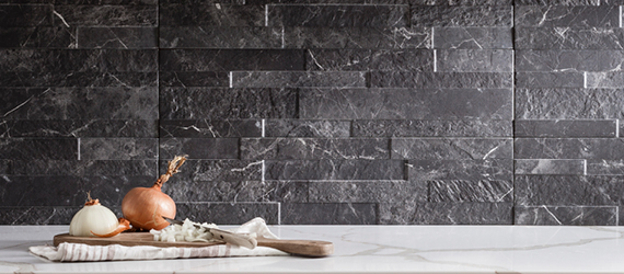 Tiffany Natural Stone Effect Kitchen Tiles by GEMINI from CTD Tiles