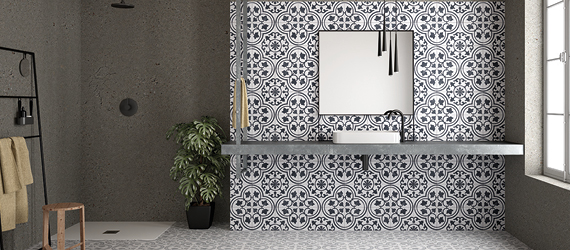 Cuban Patterned Bathroom Tiles by GEMINI from CTD Tiles