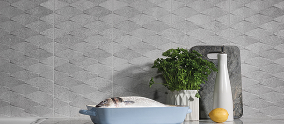 Rock Patterned Kitchen Tiles by GEMINI from CTD Tiles