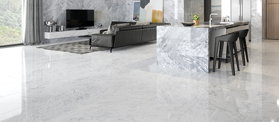 Marmori Polished Porcelain Floor Tiles by GEMINI from CTD Tiles
