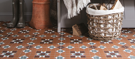 Victorian Heritage Red Kitchen Tiles by GEMINI from CTD Tiles