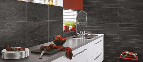 Pietra Pienza Slate Effect Kitchen Tiles by GEMINI from CTD Tiles