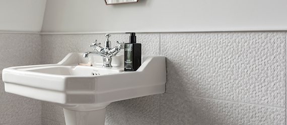 Cliveden Textured Bathroom Tiles by GEMINI from CTD Tiles