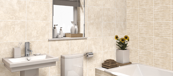 Accona Travertine Bathroom Tiles by GEMINI from CTD Tiles