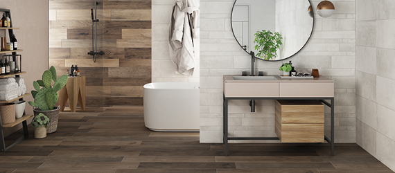 Wood Effect Bathroom Tiles by GEMINI from CTD Tiles
