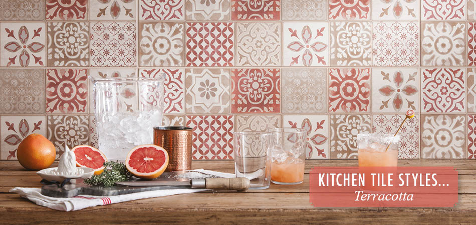 Terracotta kitchen tiles from Gemini