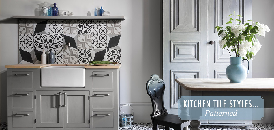 Patterned kitchen tiles from Gemini