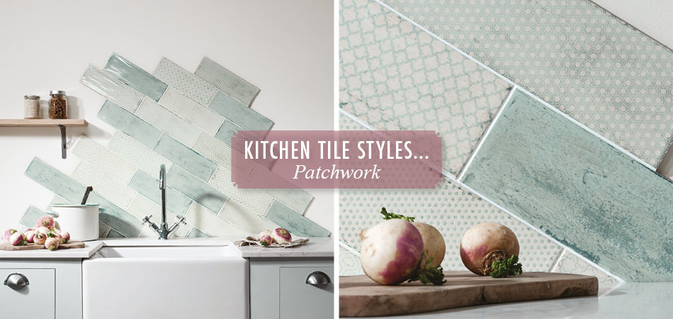 Patchwork kitchen tiles from Gemini