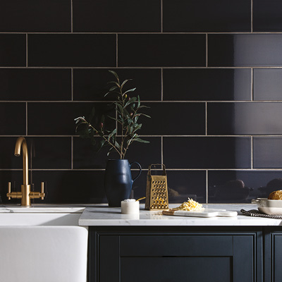 Picture of Reflections graphite wall tiles
