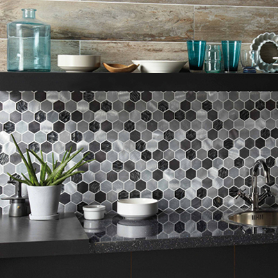 Picture of GEMINI Hexagon Mosaic kitchen tiles
