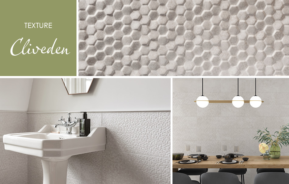 Cliveden Textured Tiles by Gemini