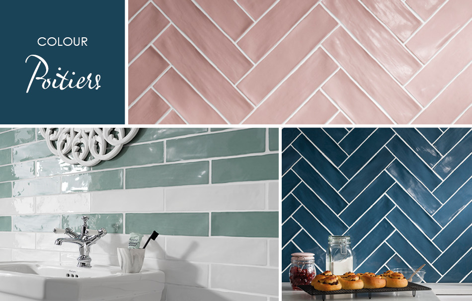 Poitiers Coloured Tiles by Gemini